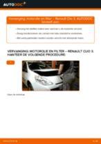 Gratis handleiding voor het Oliefilter motor vernieuwen RENAULT CLIO III (BR0/1, CR0/1)