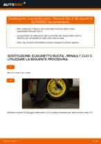 Come cambiare è regolare Cuscinetto mozzo ruota RENAULT CLIO: pdf tutorial