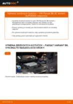 Ako vymeniť a regulovať Brzdový kotouč VW PASSAT: sprievodca pdf