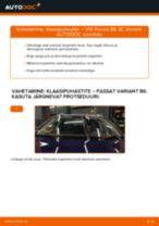 Kuidas vahetada VW Passat 3C B6 Variant esi-klaasipuhastite – õpetus