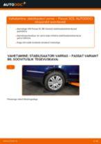 Kuidas vahetada VW Passat 3C B6 Variant taga-stabilisaatori varras – õpetus