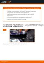 Kuidas vahetada VW Passat 3C B6 Variant esi-piduriketaste – õpetus