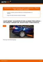 Kuidas vahetada VW Passat 3C B6 Variant tagavedrustuse alumine põikvarras – õpetus