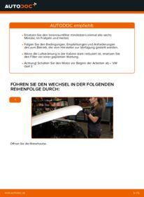 Wie der Wechsel durchführt wird: Innenraumfilter 2.8 VR6 Golf 3 tauschen