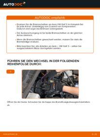 Wie der Wechsel durchführt wird: Bremsscheiben 2.8 VR6 Golf 3 tauschen