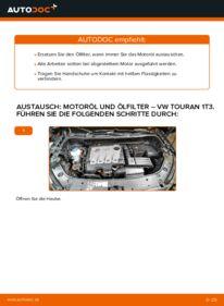 Wie der Wechsel durchführt wird: Ölfilter 1.6 TDI Touran 1t3 tauschen