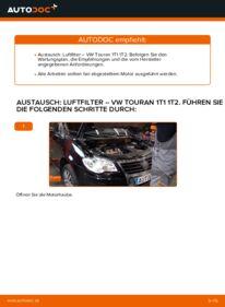 Wie der Wechsel durchführt wird: Luftfilter 1.9 TDI Touran 1T1, 1T2 tauschen