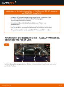 Wie der Wechsel durchführt wird: Scheibenwischer 2.0 TDI Passat B6 Variant tauschen