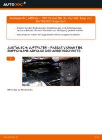 Wie der Wechsel durchführt wird: Luftfilter 2.0 TDI Passat B6 tauschen