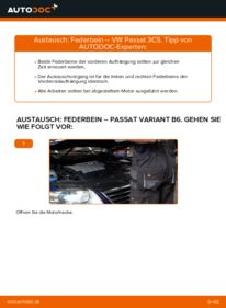 Wie der Wechsel durchführt wird: Stoßdämpfer 2.0 TDI Passat B6 Variant tauschen