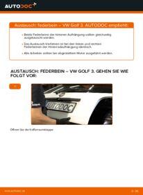 Wie der Wechsel durchführt wird: Stoßdämpfer 2.8 VR6 Golf 3 tauschen