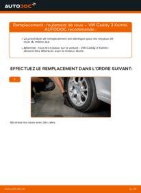 Comment effectuer un remplacement de Roulement De Roues sur 1.9 TDI VW Caddy 3