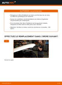 Comment effectuer un remplacement de Filtre d'Habitacle sur 2.8 VR6 VW Golf III