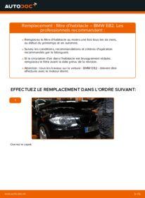 Comment effectuer un remplacement de Filtre d'Habitacle sur 120d 2.0 BMW E82