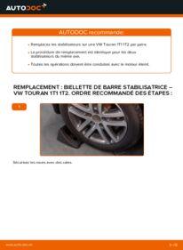 Comment effectuer un remplacement de Biellette De Barre Stabilisatrice sur 1.9 TDI VW Touran 1