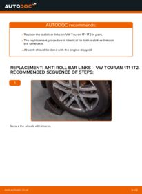 How to carry out replacement: Anti Roll Bar Links on 1.9 TDI Touran Mk1