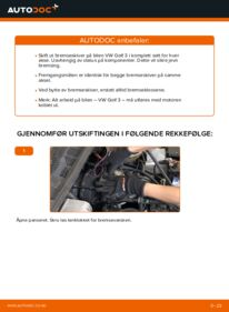 Slik bytter du Bremseskiver på VW GOLF