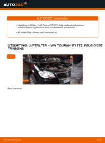 Slik bytter du Luftfilter på VW TOURAN