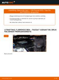Slik bytter du Støtdemper på VW PASSAT