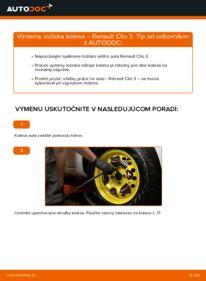 Ako vykonať výmenu: Lozisko kolesa na 1.5 dCi Renault Clio 3