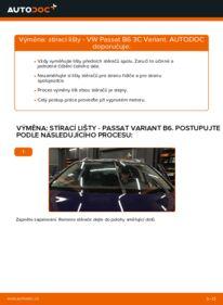 Jak provést výměnu: List stěrače na 2.0 TDI Passat B6