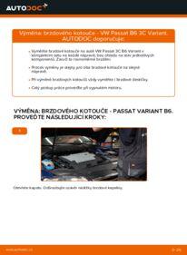 Jak provést výměnu: Brzdovy kotouc na 2.0 TDI Passat B6