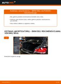Kaip atlikti keitimą: 120d 2.0 BMW E82 Amortizatorius