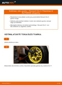 Kaip atlikti keitimą: 1.5 dCi Renault Clio 3 Rato guolis