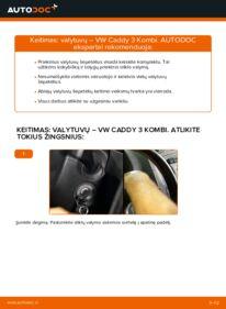 Kaip atlikti keitimą: 1.9 TDI VW Caddy 3 Valytuvo gumelė