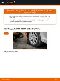 Kaip atlikti keitimą: 1.9 TDI VW Caddy 3 Rato guolis