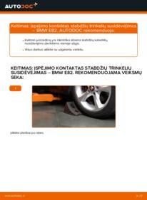 Kaip atlikti keitimą: 120d 2.0 BMW E82 Susidėvėjimo indikatorius, stabdžių trinkelės