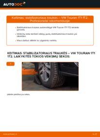 Kaip atlikti keitimą: 1.9 TDI Touran 1t1 1t2 Pasukimo trauklė