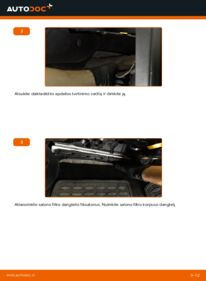 Kaip atlikti keitimą: 2.0 TDI Passat B6 Oro filtras, keleivio vieta
