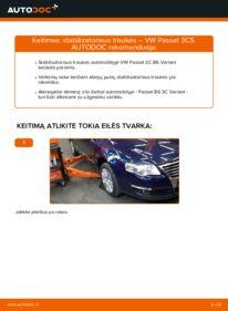 Kaip atlikti keitimą: 2.0 TDI Passat B6 Pasukimo trauklė