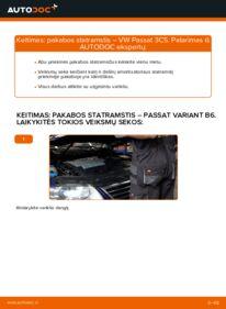Kaip atlikti keitimą: 2.0 TDI Passat B6 Amortizatorius