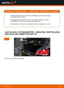 Wie der Wechsel durchführt wird: Stoßdämpfer 120d 2.0 BMW E82 tauschen