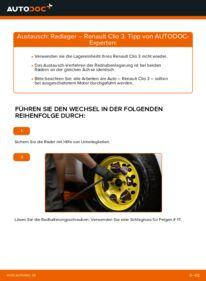 Wie der Wechsel durchführt wird: Radlager 1.5 dCi Renault Clio 3 tauschen