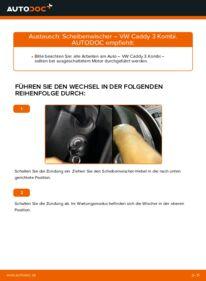 Wie der Wechsel durchführt wird: Scheibenwischer 1.9 TDI VW Caddy 3 tauschen