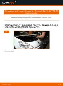 Comment effectuer un remplacement de Courroie Trapézoïdale à Nervures sur 1.5 dCi Renault Clio 3