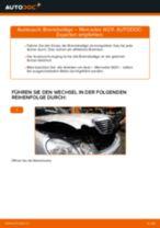 Wie Bremsklötze MERCEDES-BENZ E-CLASS austauschen und anpassen: PDF-Anweisung