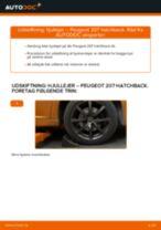 Lær hvordan skifter Hjulleje bag venstre højre på PEUGEOT - gratis instruktionsbog