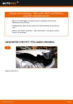 Byta Bromsbeläggssats skivbroms MERCEDES-BENZ E-CLASS: gratis pdf