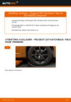 Mekanikerens anbefalinger om bytte av PEUGEOT PEUGEOT 207 (WA_, WC_) 1.6 HDi Luftfilter