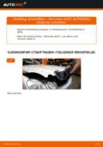 Skifte Drivstoffilter MERCEDES-BENZ E-CLASS: verkstedhåndbok