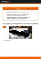 Samodzielna wymiana Piasta łożyska przedniego lewy prawy MERCEDES-BENZ - online instrukcje pdf