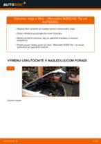 Ako vymeniť motorové oleje a filtre na Mercedes W203 V6 – návod na výmenu