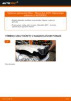 Výmena Palivový filter MERCEDES-BENZ E-CLASS: dielenská príručka