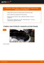 Ako vymeniť motorové oleje a filtre na Mercedes W211 – návod na výmenu
