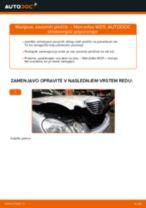 Zamenjavo Zavorne Ploščice MERCEDES-BENZ E-CLASS: navodila za uporabo