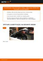 PDF manual de substituição: Filtro de óleo MERCEDES-BENZ Classe C Sedan (W203)